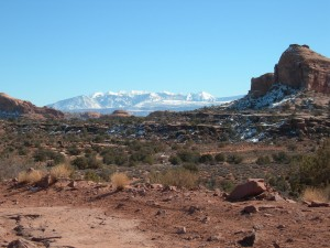 Mountains and red rock in the same view!
